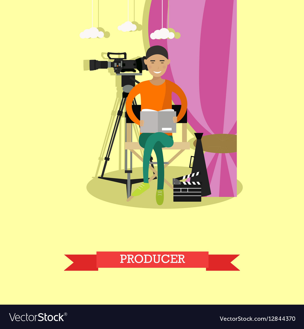 Producer reading screenplay vector image