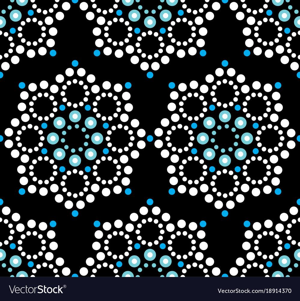 Seamless pattern aboriginal dot painting vector image