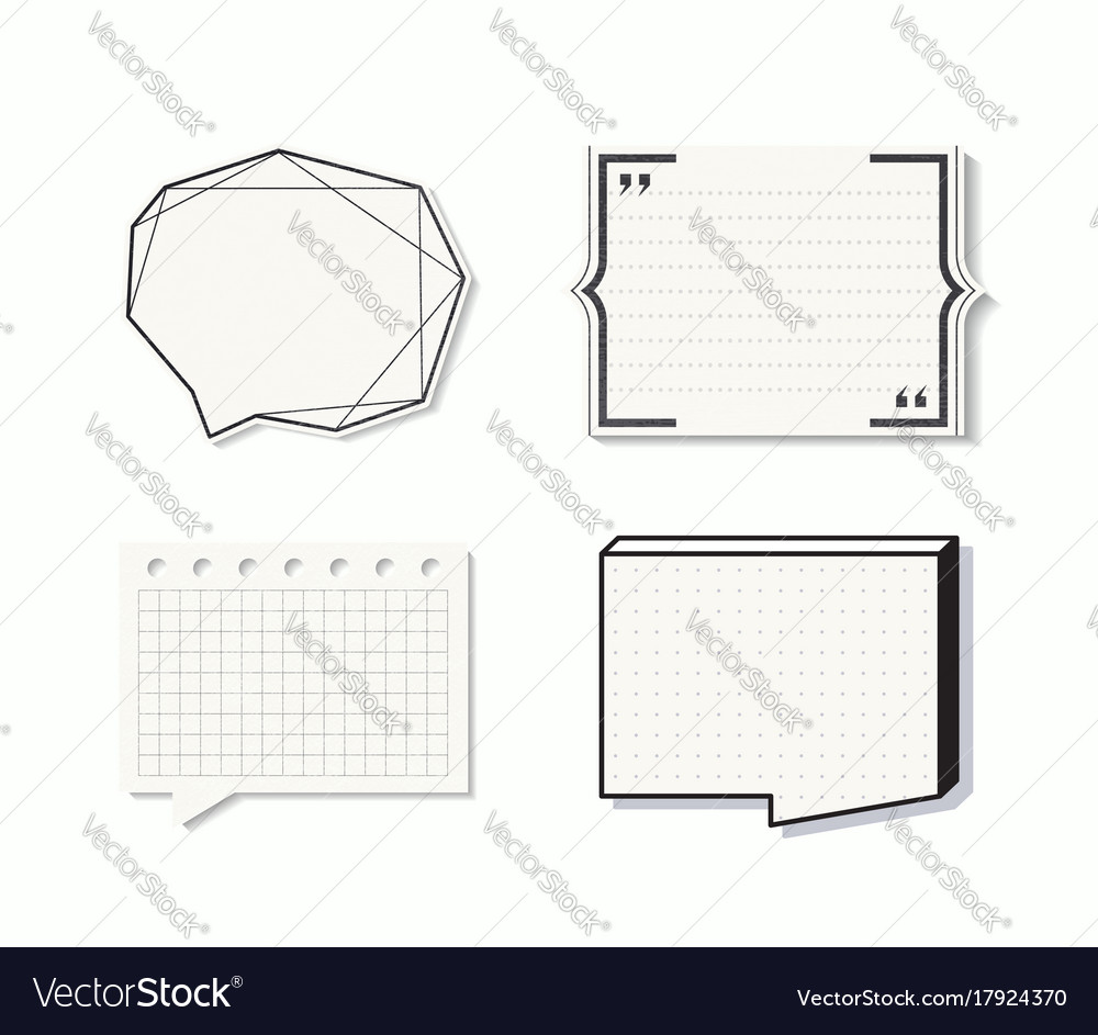 Set of quote boxes vector image