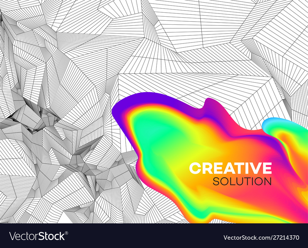 Trendy abstract background with dynamic particles