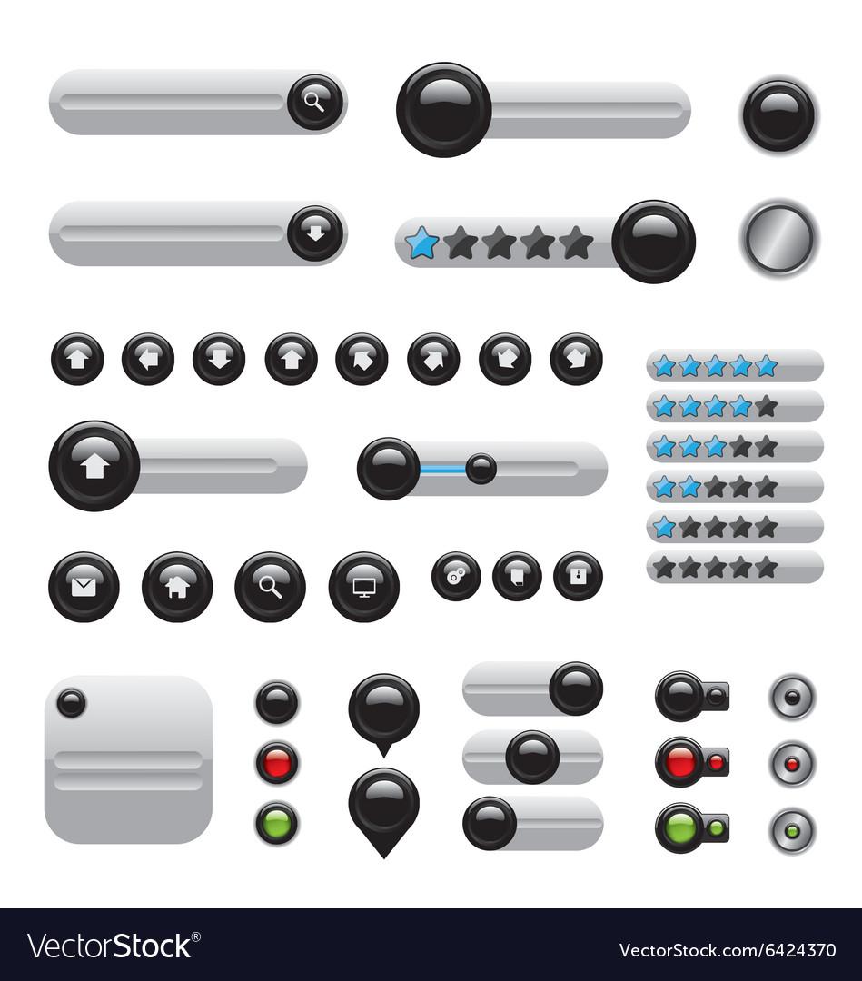 Web elements set white buttons