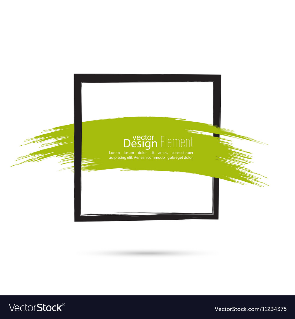 Abstract background with square banner