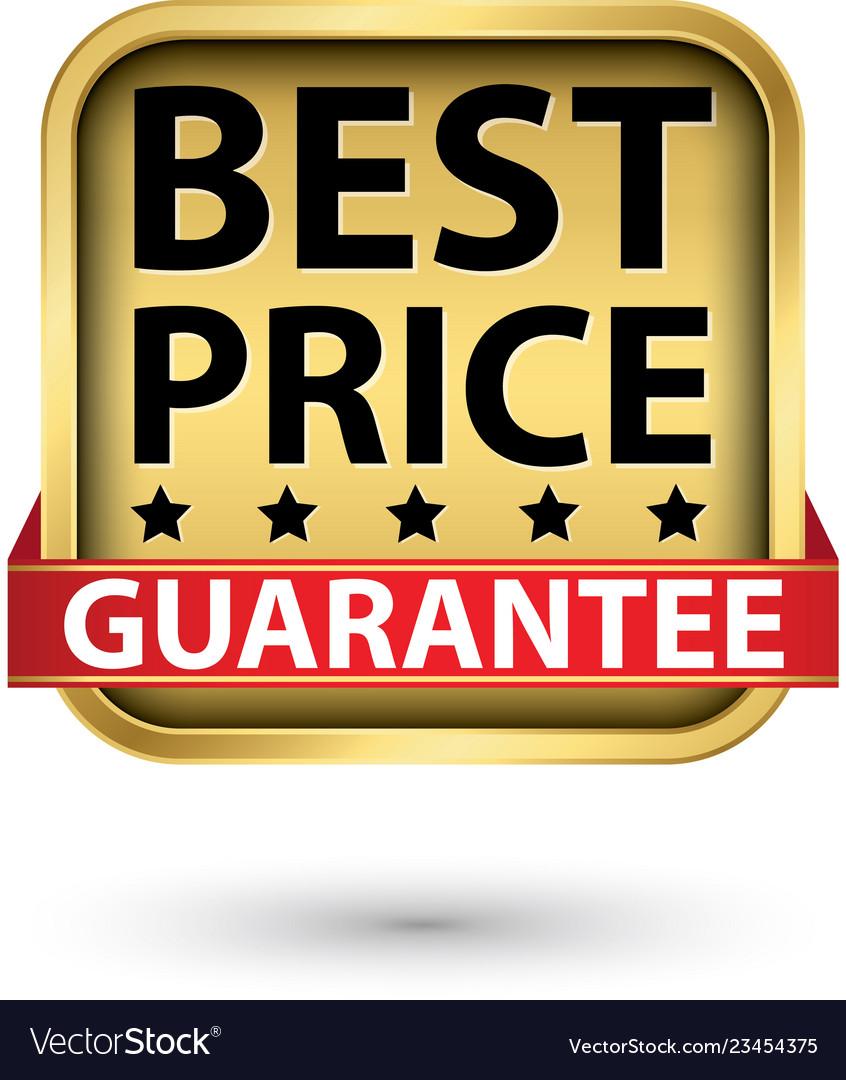 Best price guarantee golden label