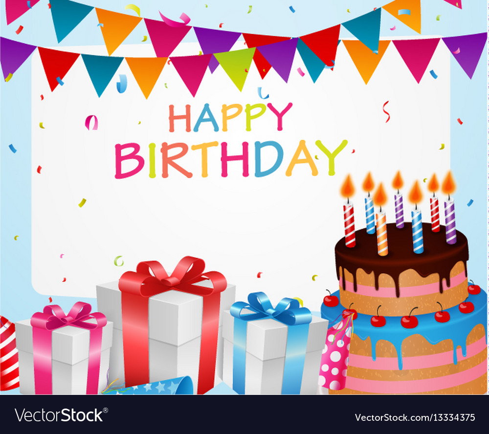 Birthday celebration background vector image