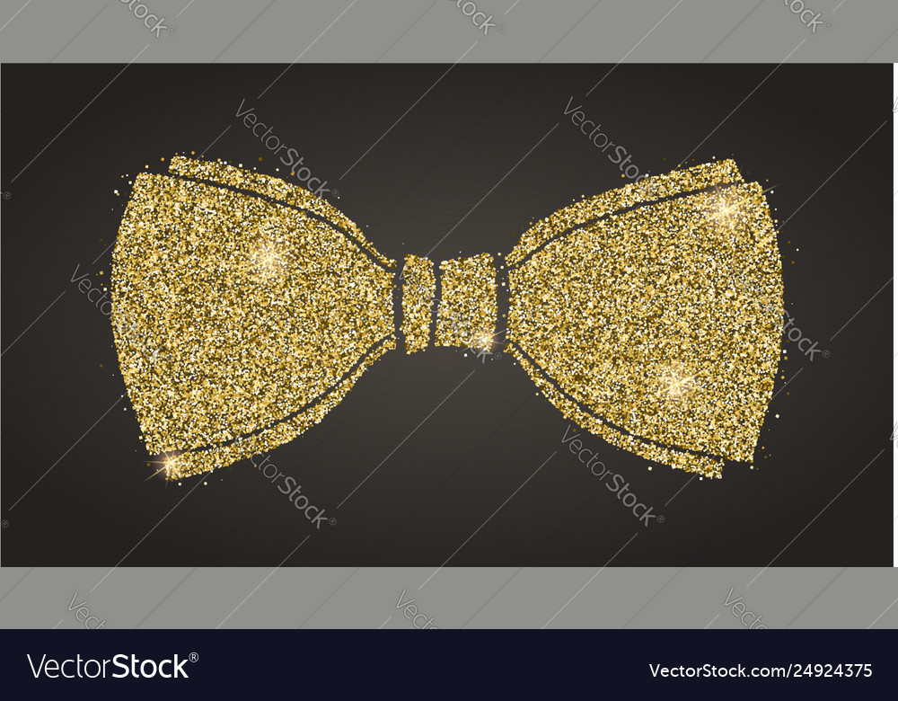 Classical bow with glitter silhouette bow tie