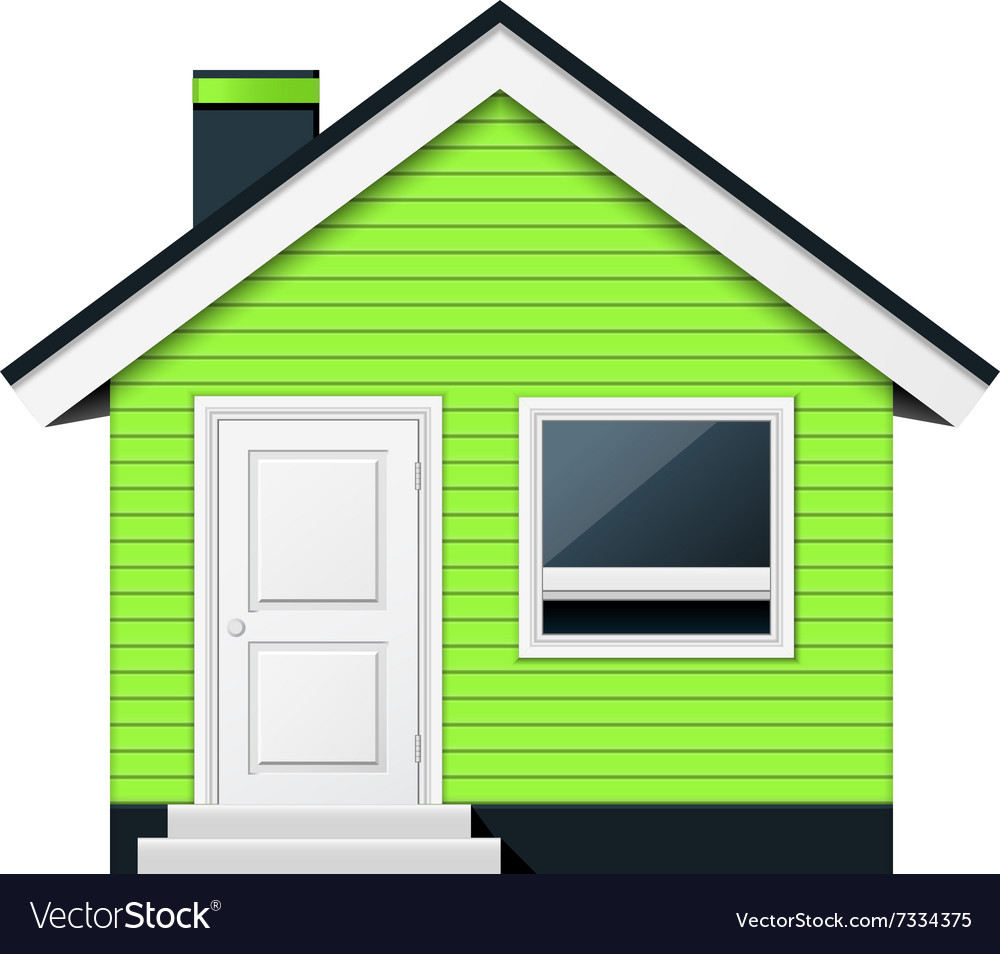 Cute scandinavian cottage - country house vector image