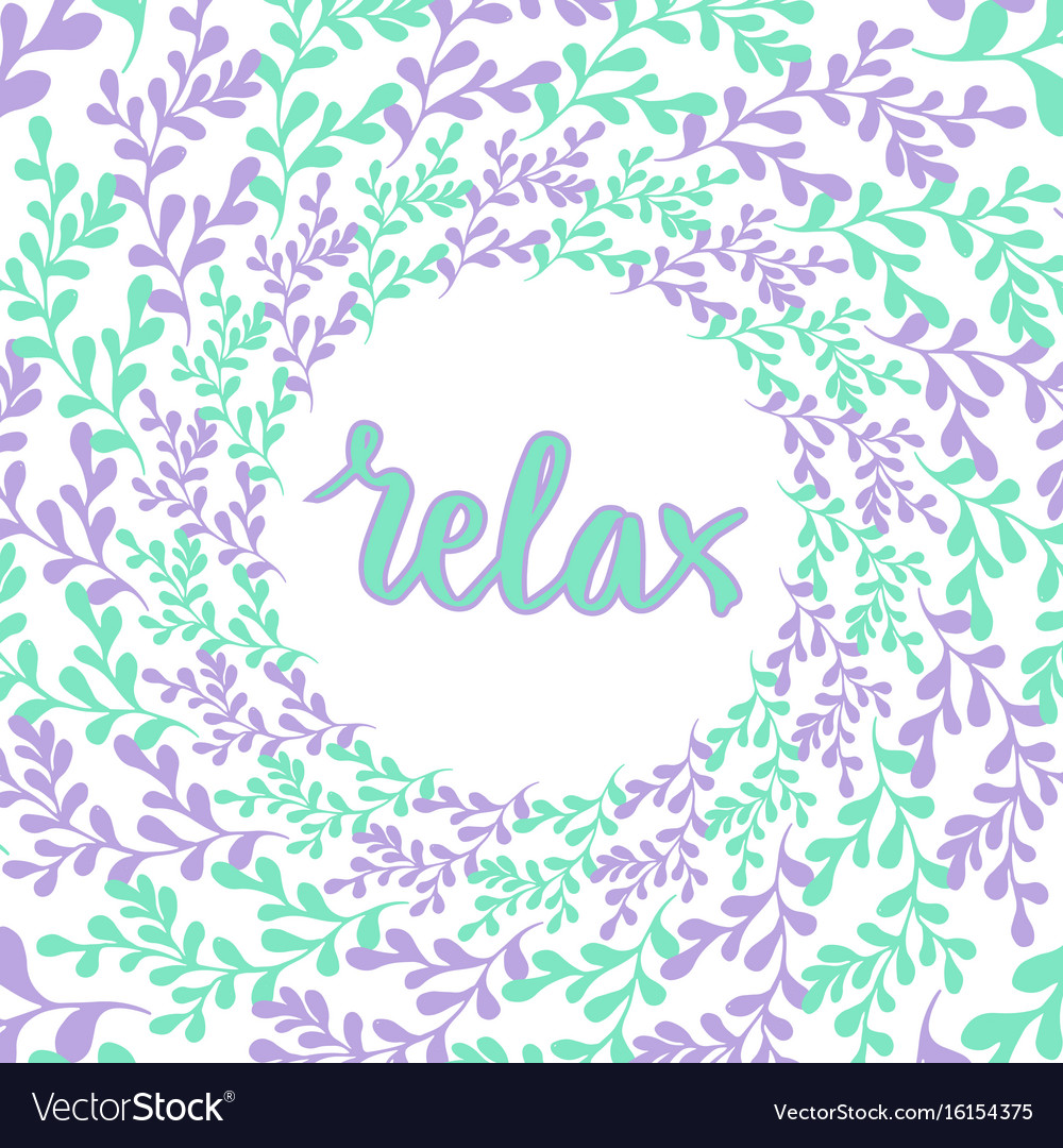 Hand drawn nature frame circle background with vector image