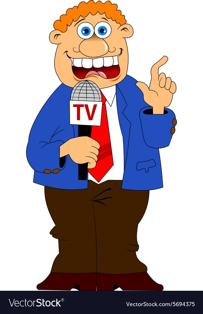 Media interview cartoon vector image