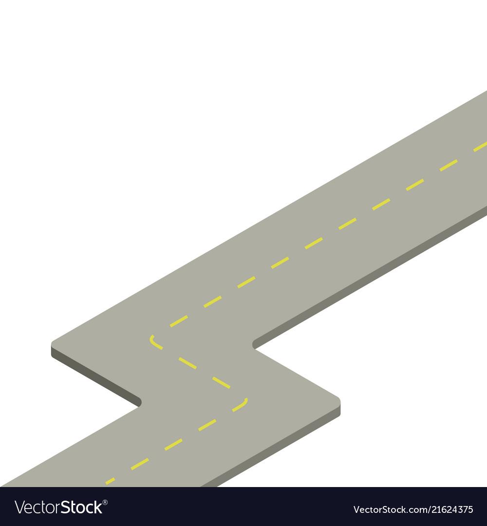 Road isometry icon