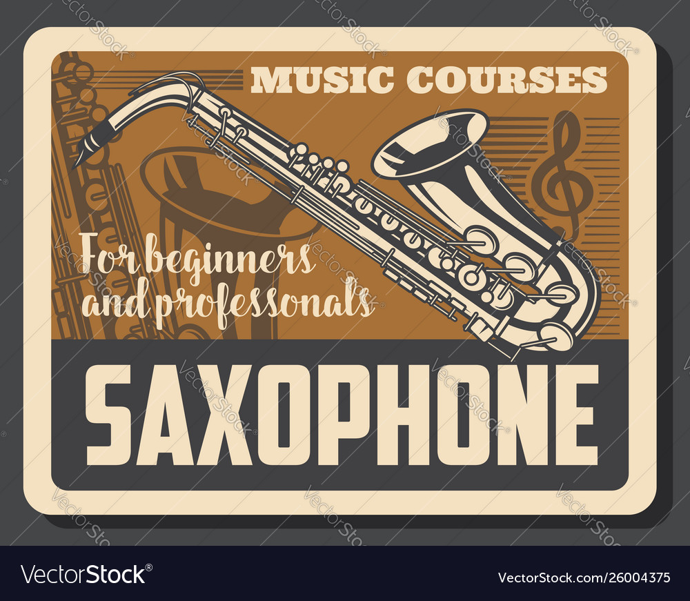 Saxophone musical instruments and treble clef