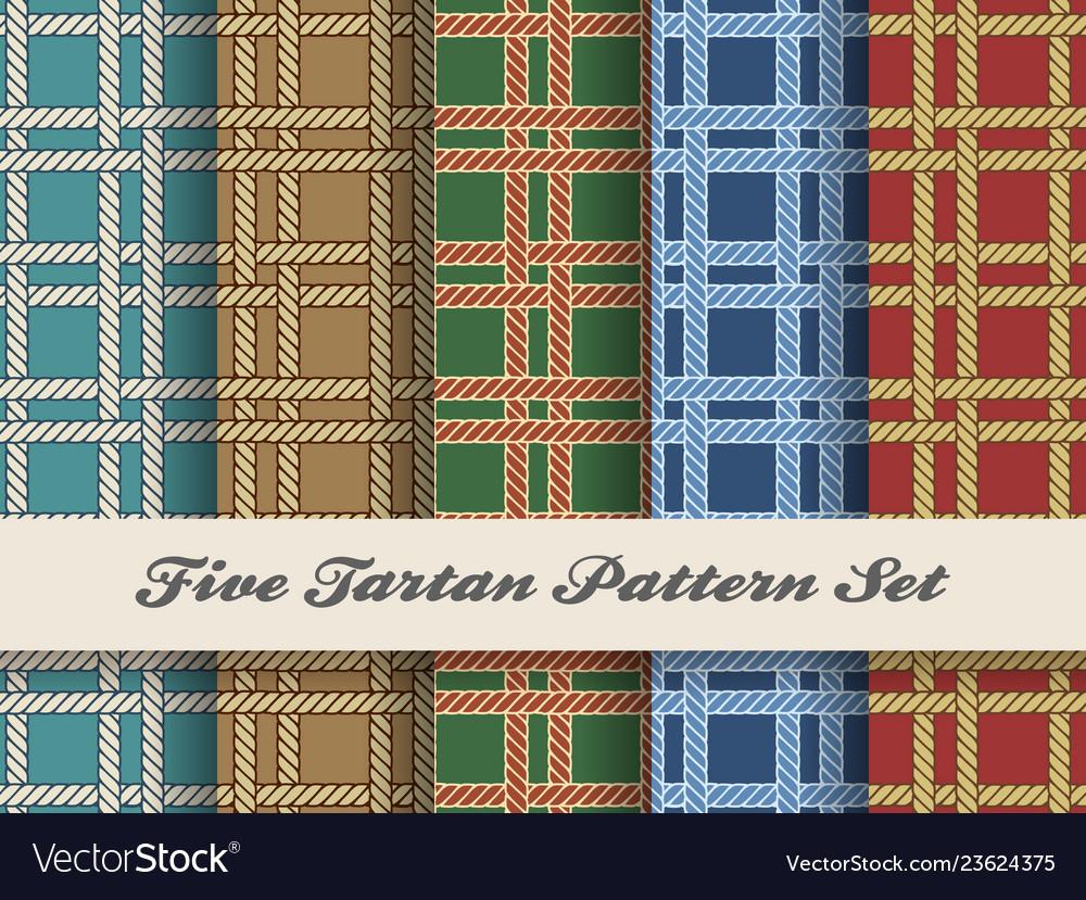 Tartan pattern set