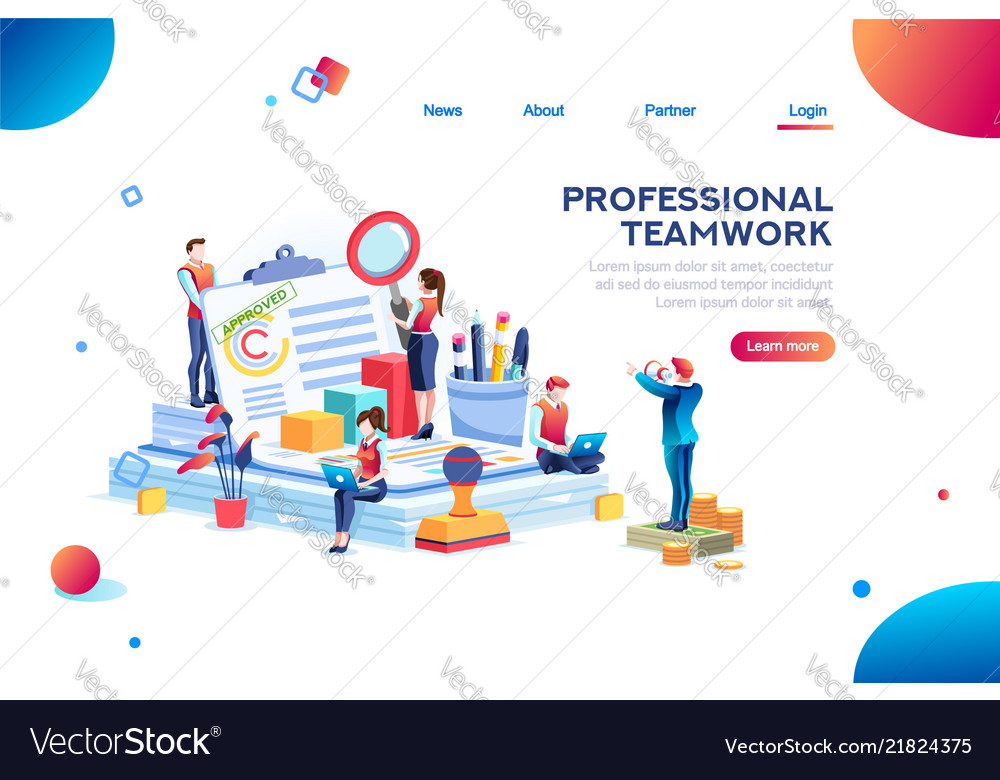 Work at office infographic