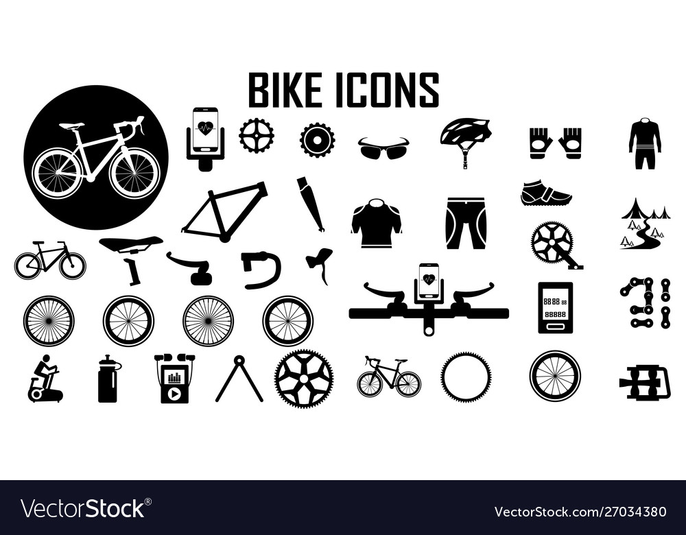 Bike bicycle fitness exercise icon