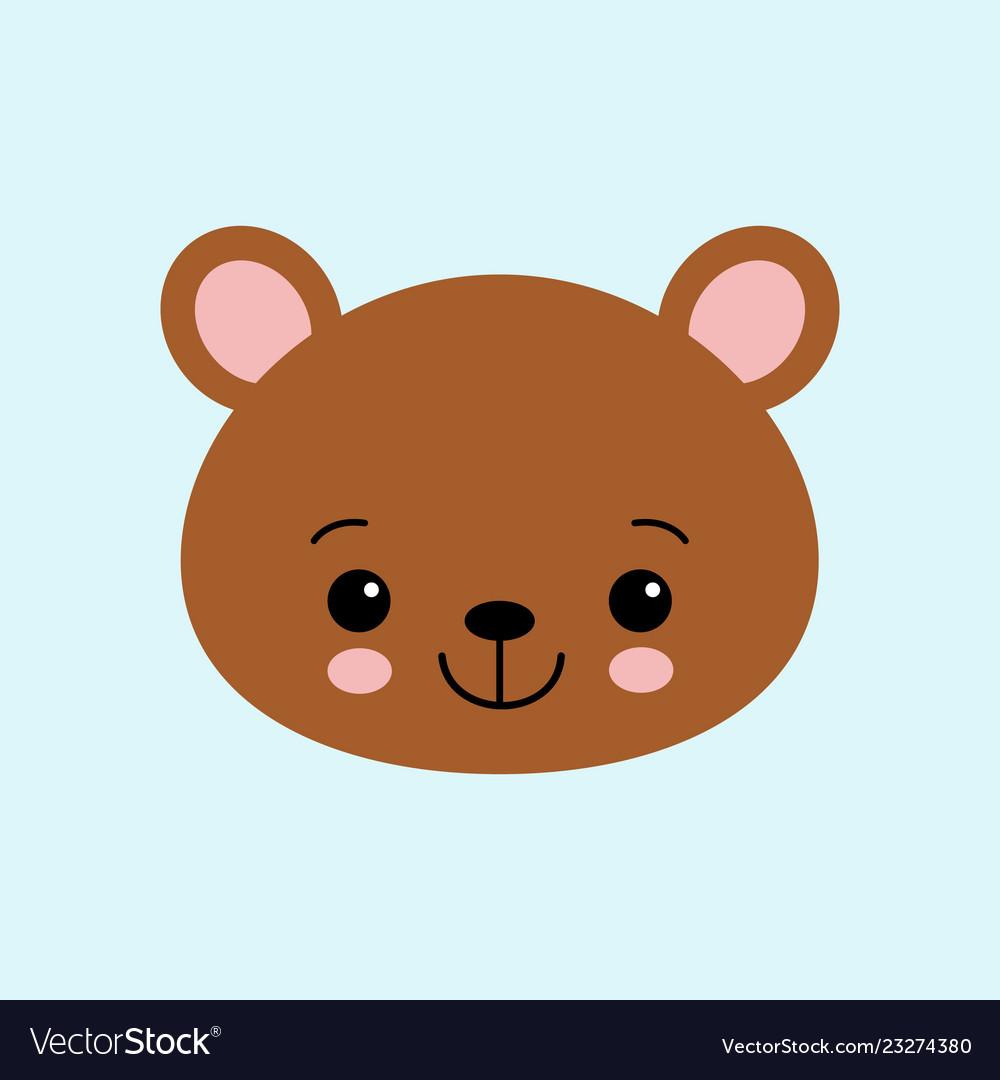 Cute bear funny animal little bear in cartoon Vector Image