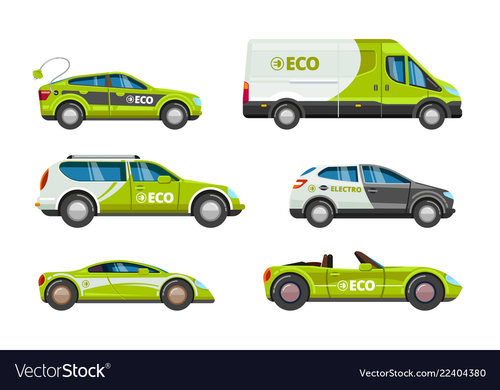 Eco cars alternative power energy electrical