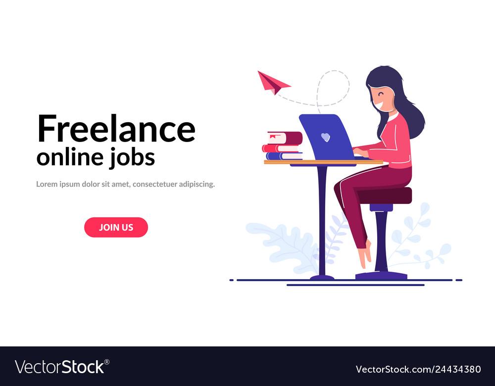 Freelancer worker concept online learning