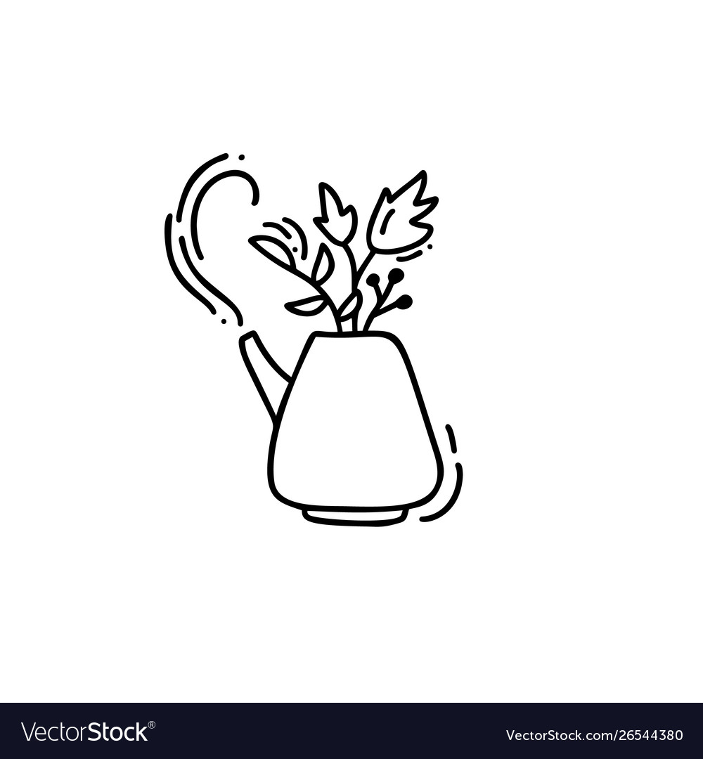 hand drawn doodle tea royalty free vector image hand drawn doodle tea royalty free vector image