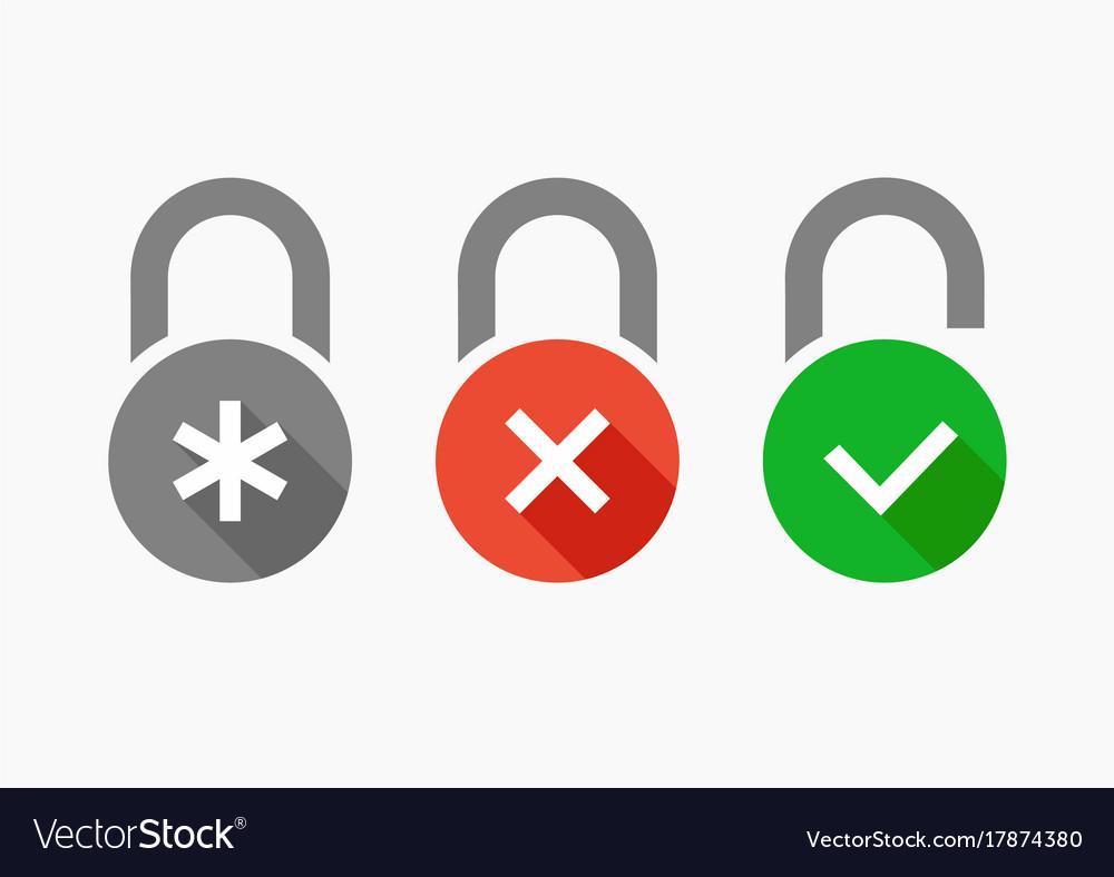 Icons set combination lock