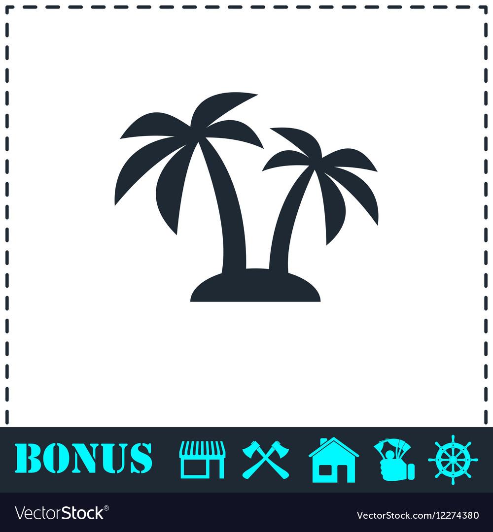 Palms icon flat