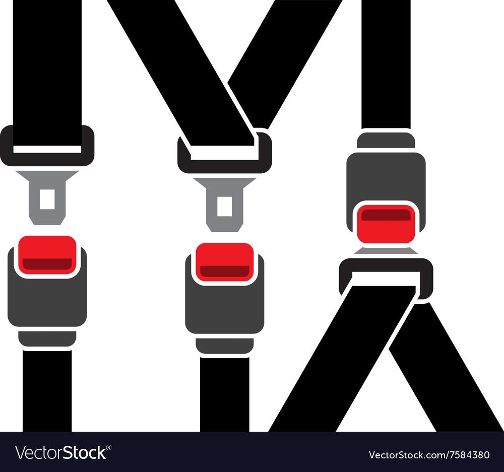 Safety seatbelt icon