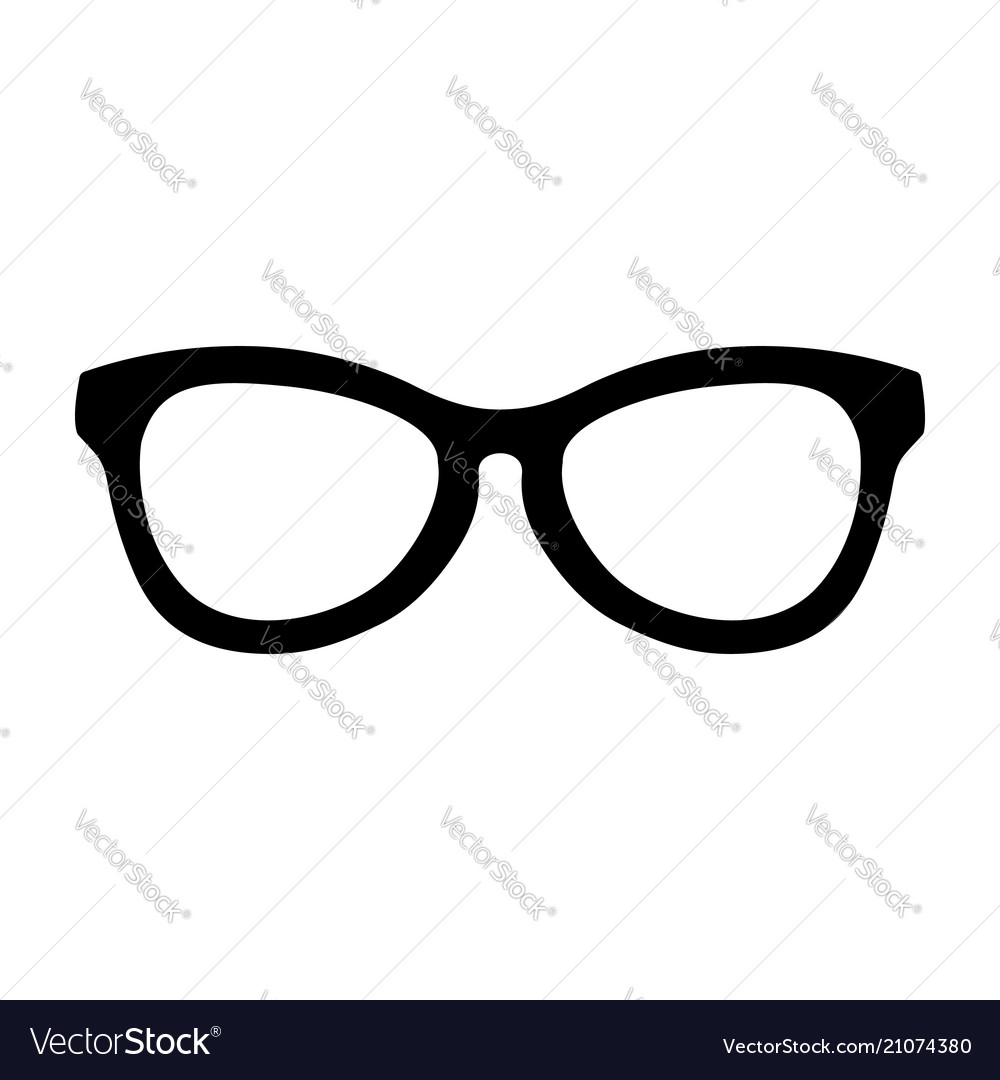 Simple Cool Glasses Symbol Design Vector Image