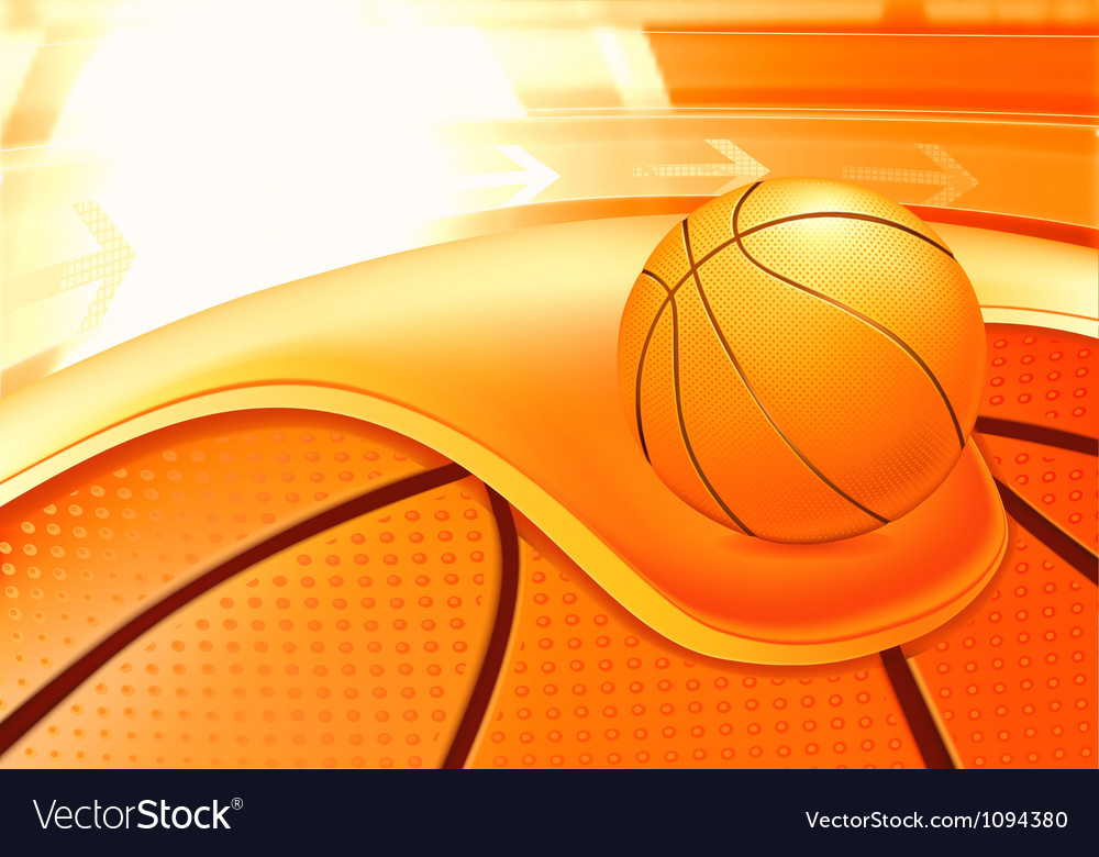 Sports Background Basketball vector image