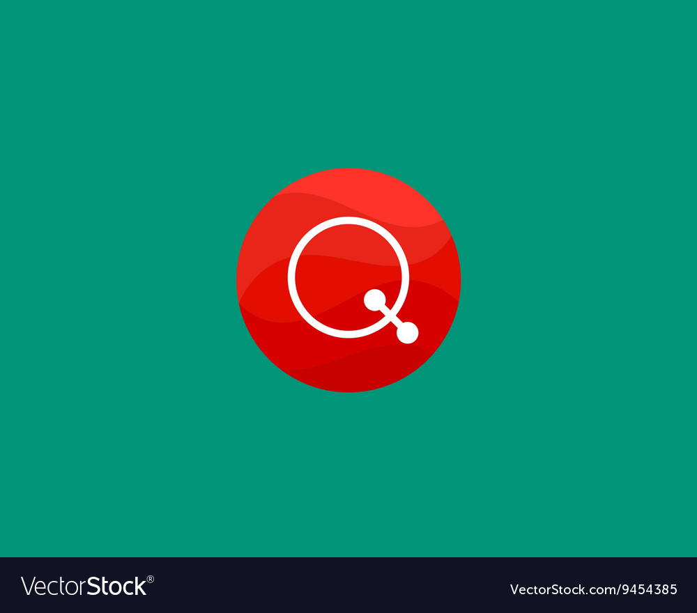 Abstract letter Q logo design template Dot line
