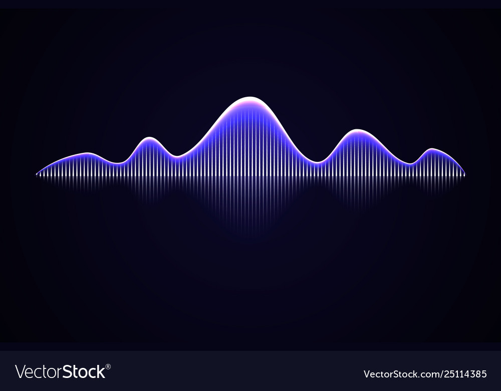 Abstract music sound wave