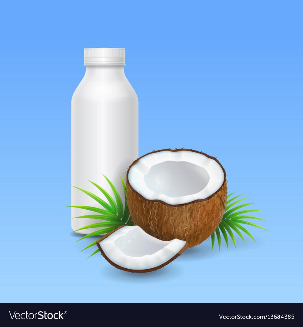 Coconut milk or yogurt and bottle design