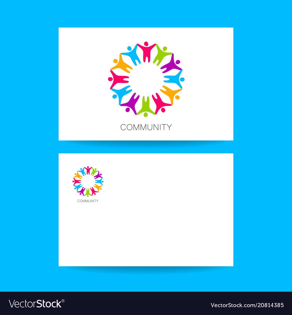 Community logo design template