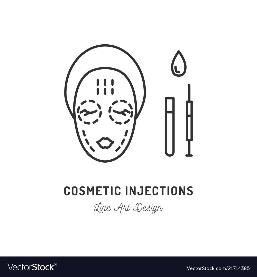 Cosmetic injections beauty injections thin line