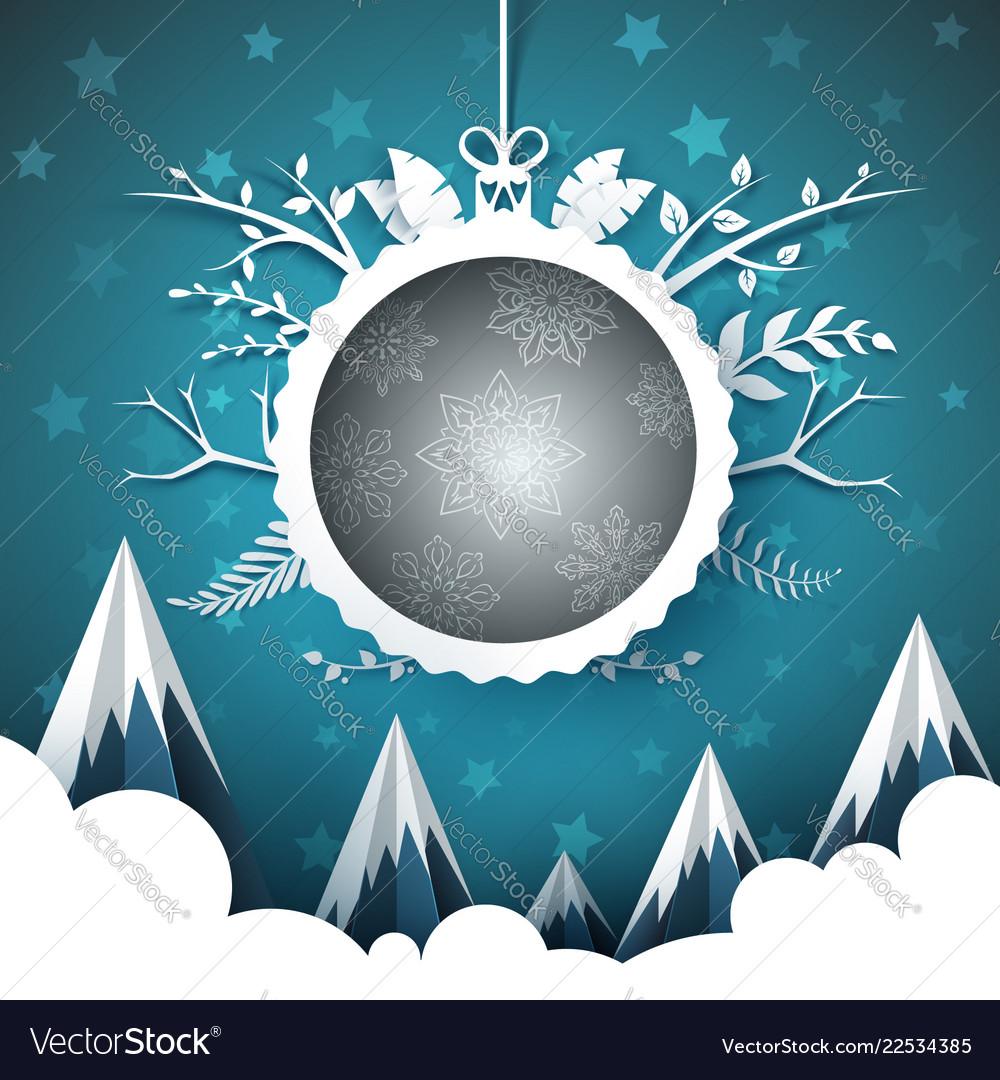 Happy new year merry christmas ball - winter