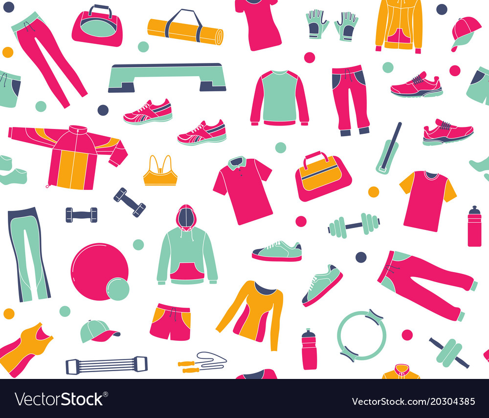 Seamless background with clothes and accessories