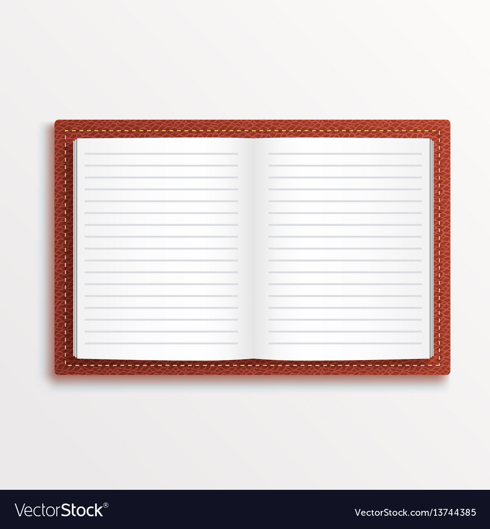Simple opened isolated red book