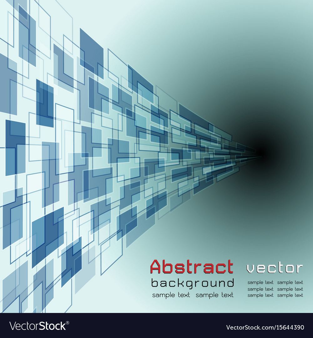Abstract background with blue colorcurve objects
