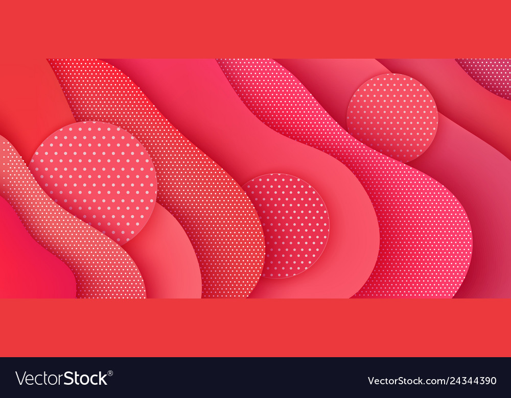 Abstract paper background with round shapes polka