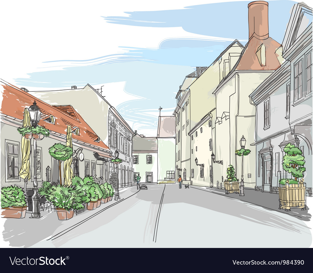 European city street vector image