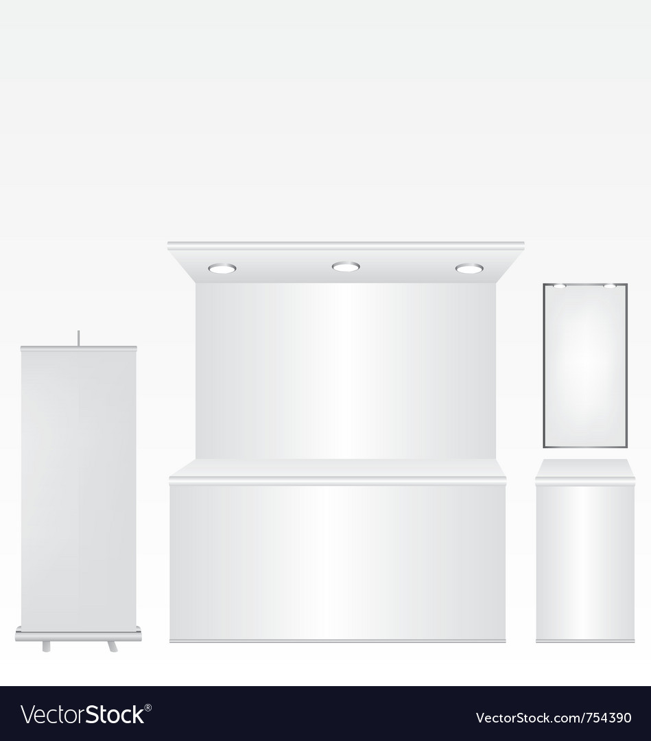 Trade stand and roll up vector image