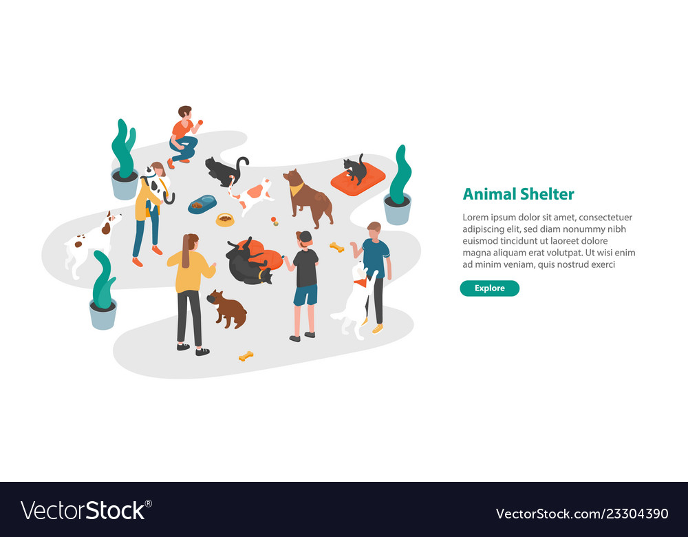 Web banner template with people or volunteers