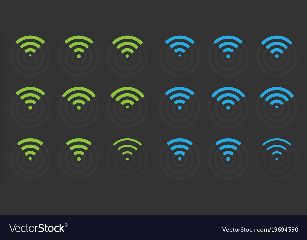 Wifi icons set wireless signs