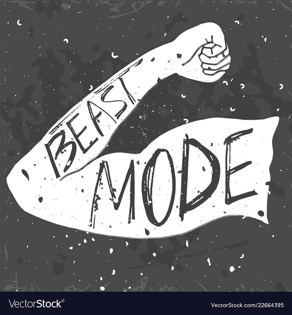 Beast Mode Lettering