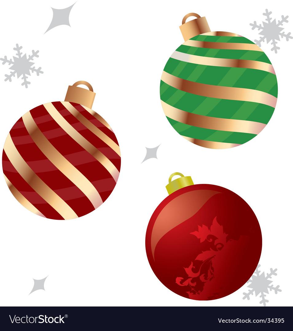 Christmas ornaments Royalty Free Vector Image - VectorStock