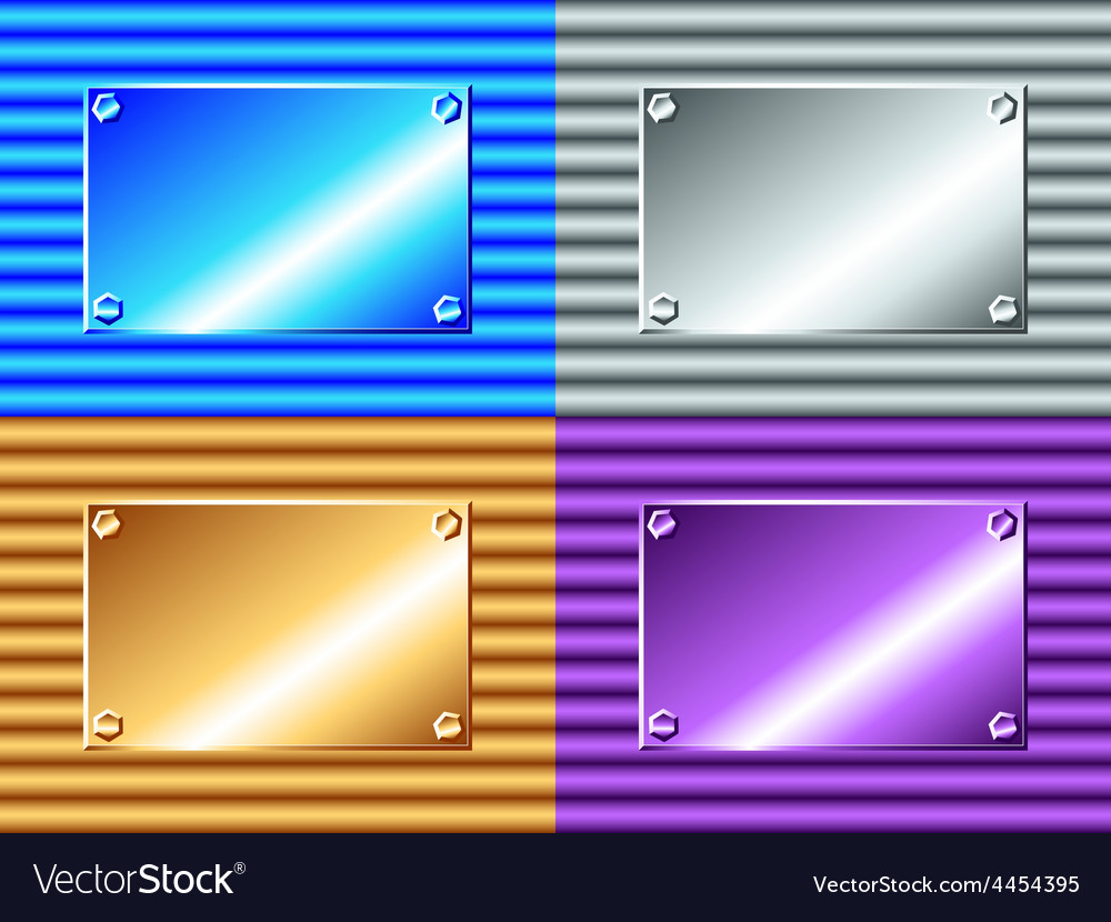 Corrugated metal plate vector image