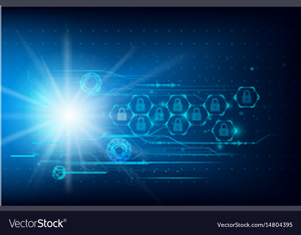 Data security futuristic cyber technology vector image