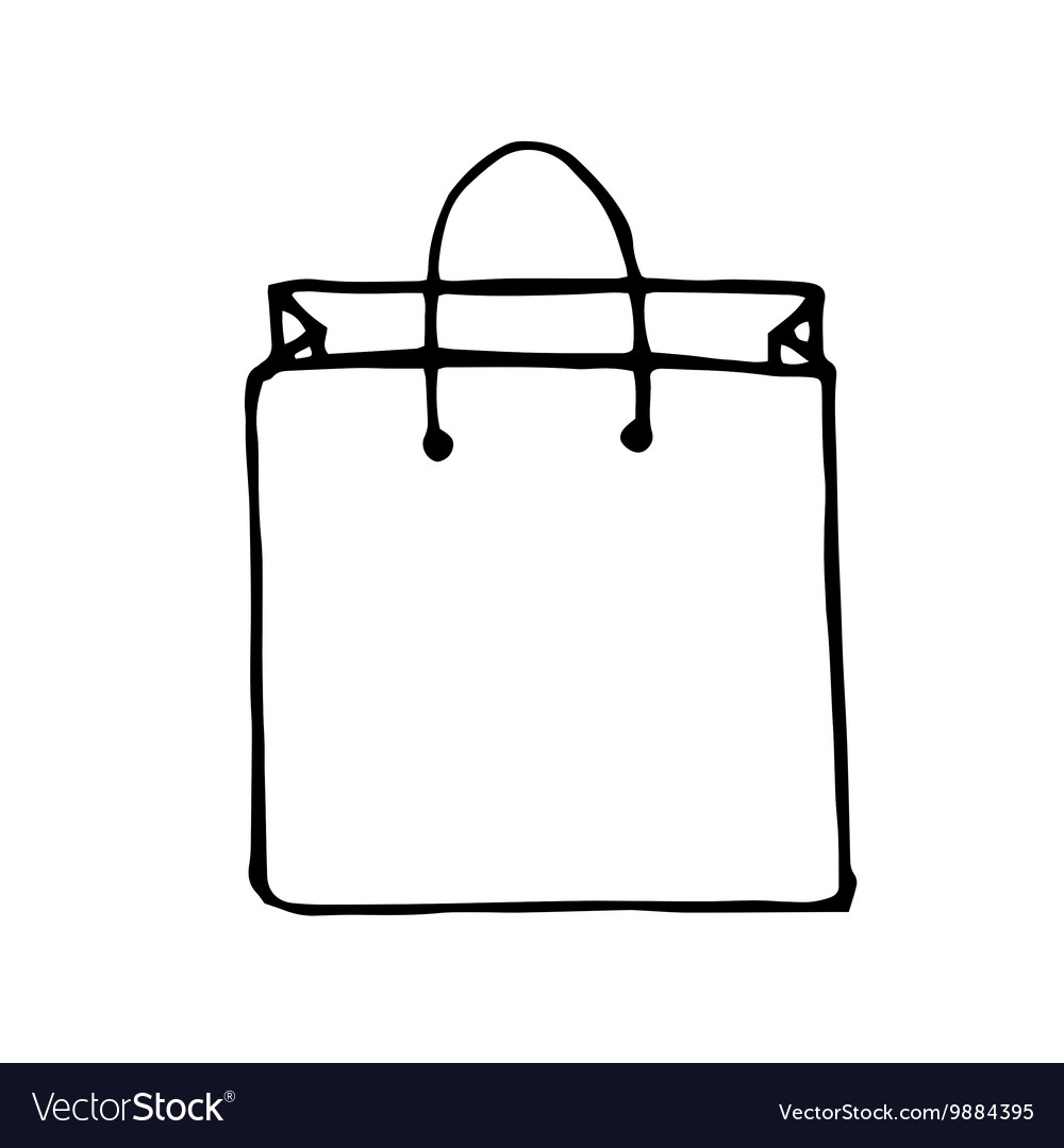 doodle style shopping bag vector image on vectorstock rh vectorstock com bag vector template bag vector logo
