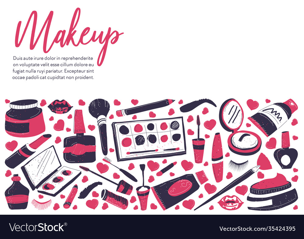 Makeup In Studio Or Vector Image