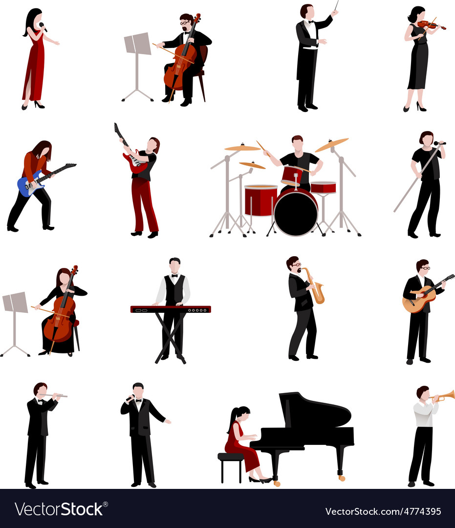 Musicians Icons Set