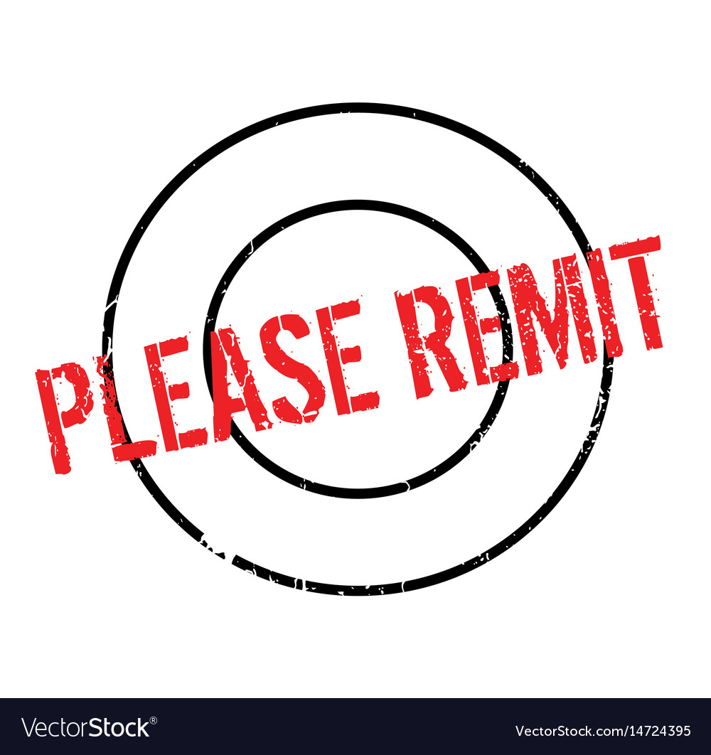 Please remit rubber stamp vector image
