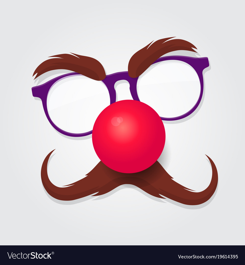 Red nose day carnival goggles with a red nose