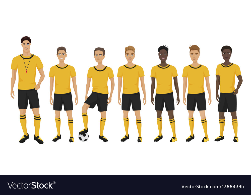 The young football players vector image